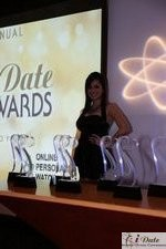 Award Model Andrea O'Campo at the 2010 Internet Dating Industry Awards Ceremony in Miami