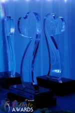 iDate Award Trophies at the 2011 Miami iDate Awards