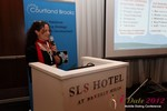 Beverly May (CEO and Founder of Minidates) at the June 20-22, 2012 Mobile Dating Industry Conference in Beverly Hills