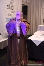 Jonathan Crutchley (Chairman at Manhunt) is actually Obi Wan Kenobi! at the 2012 Online and Mobile Dating Industry Conference in Beverly Hills