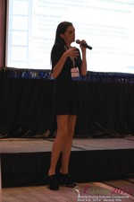 Rosalie Sutherland Of AnastasiaDate Speaking On Mobile Dating Conversions  at the 38th iDate2014 Beverly Hills