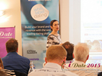 Gloria Diez Business Development From Wamba Speaking at the 12th Annual Euro and U.K. iDate Mobile Dating Business Executive Convention and Trade Show