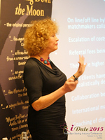 Mary Balfour CEO And Managing Director Of Drawing Down The Moon  at iDate2015 Europe