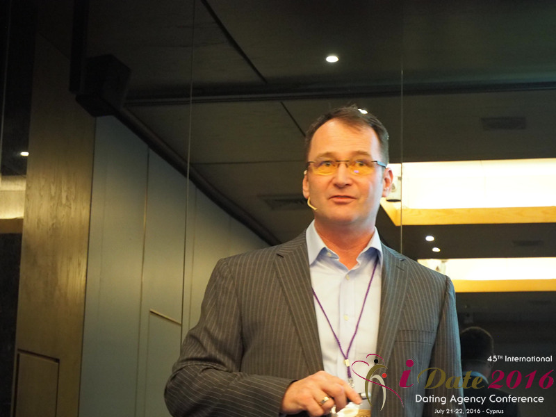Mark Brooks - CEO of Courtland Brooks at the 45th Premium International Dating Industry Conference in Limassol,Cyprus