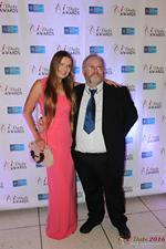 Media Wall Svetlana Mukha and Wayne May at the 2016 Miami iDate Awards