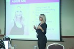 Ane Auret, CEO, presenting on Coaching Programs that work at the 2016 iDate Mobile, Online Dating and Matchmaking conference in Londres