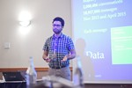 Taha Yasseri, Research Fellow in Computational Social Science from University of Oxford, presenting a statistical description of mobile dating communications. at the Euro e Reino Unido iDate conference and expo for matchmakers and online dating professionals in 2016